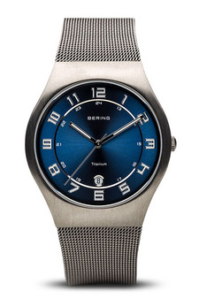 Bering Classic Brushed Grey Silver Mesh Watch 11937-078