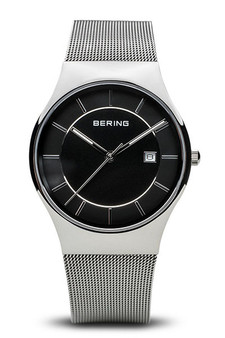 Bering Classic Polished Silver Mesh Watch 11938-002