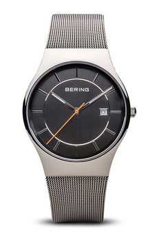 Bering Classic Polished Silver Mesh Watch 11938-007