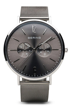 Bering Classic Polished Silver Combo Watch 14240-309