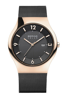 Bering Solar Polished Rose Gold Watch 14440-166