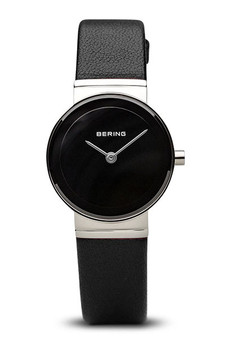 Bering Classic Brushed Silver Black Watch 10126-402