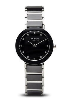 Bering Ceramic Polished Silver Grey Watch 11429-742