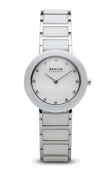 Bering Ceramic Polished Silver White Watch 11429-754