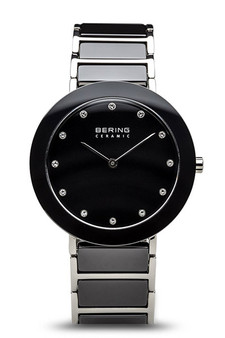 Bering Ceramic Polished Silver Ceramic Bracelet Watch 11435-749