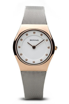 Bering Classic Polished Rose Gold Silver Watch 11927-064