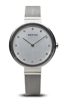 Bering Classic Polished Silver 34mm Mesh Watch 12034-000