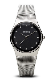 Bering Classic Polished Silver Milanese Mesh Watch 12927-002
