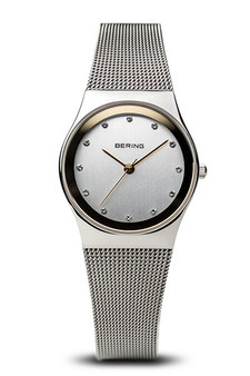 Bering Classic Polished Silver 27mm Mesh Watch 12927-010