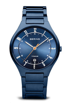 Bering Titanium Matte Blue Watch 11739-797