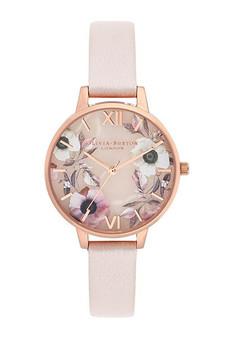 Olivia Burton Semi Precious Rose Gold Pearl Pink Watch OB16SP14