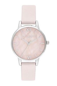 Olivia Burton Semi Precious Silver Blossom Watch OB16SP19
