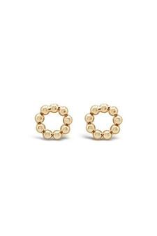 Ichu Eternity Gold Stud Earrings JP11507G