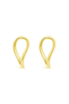 Ichu Gold Abstract Oval Earrings ME10007G