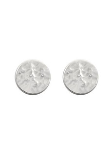 Ichu Hammered Circle Studs N6407