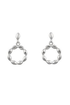 Ichu Detailed Circle Drop Earrings JP1907