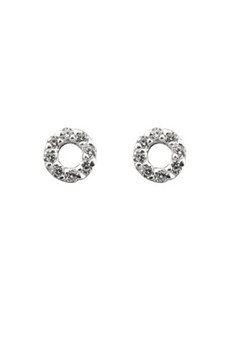 Ichu Tiny Open Circle Cz Earrings JP1507
