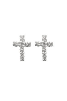 Ichu Tiny Cross Earrings JP1407