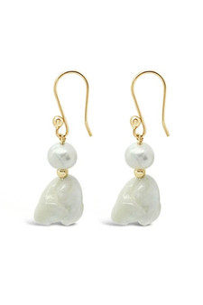 Ichu Baroque Pearl Gold Earrings RP0807G