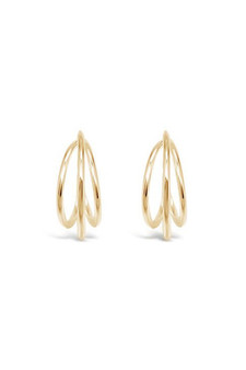 Ichu Micro Gold Hoops Earrings JP11407G