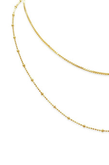 Ichu Layers Necklace Gold JP12004G