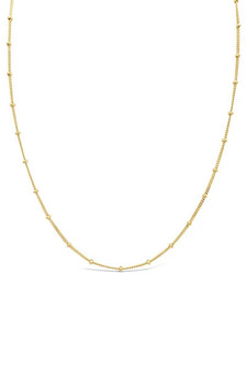 Ichu Ball Chain Gold Choker Necklace JP8004G