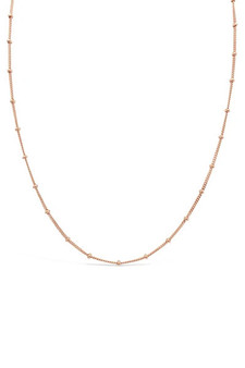 Ichu Ball Chain Rose Gold Choker Necklace JP8004RG