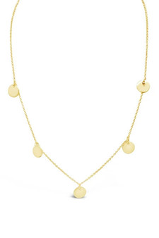 Ichu Multi Disk Gold Necklace JP9004G