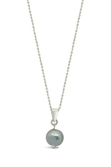Ichu Featured Pearl Blue Grey Necklace RP1004B
