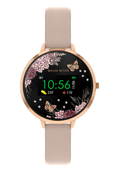 Reflex Active Rose Gold Nude Midnight Garden Smart Watch RA03-2014