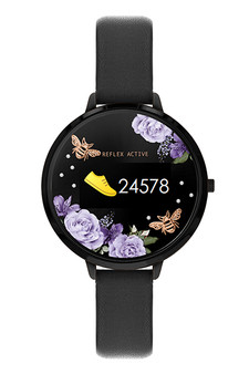 Reflex Active Black Midnight Garden Smart Watch RA03-2018