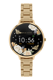 Reflex Active Gold Black Bumble Bee Smart Watch RA03-4008