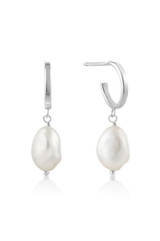Ania Haie Pearl Mini Hoop Earrings E019-02H