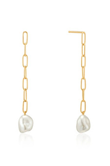 Ania Haie Pearl Chuncky Drop Earrings E019-05G