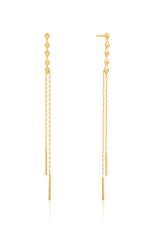 Ania Haie Spike Double Drop Earrings E025-01G