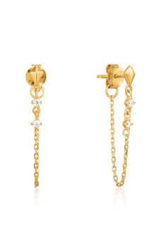 Ania Haie Spike Chain Stud Earrings E025-02G