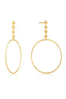 Ania Haie Spike Hoop Earrings E025-04G