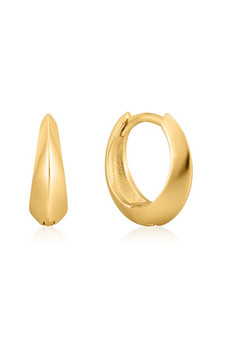 Ania Haie Single Spike Huggie Hoop Earrings E025-05G