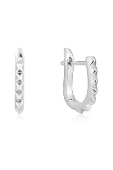 Ania Haie Spike Huggie Hoop Earrings E025-07H