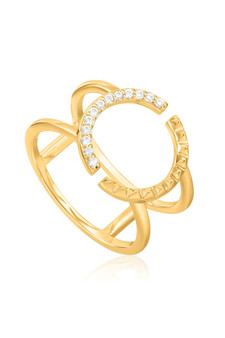 Ania Haie Spike Double Ring R025-01G