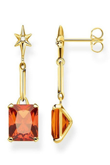 Thomas Sabo Earrings Orange Stone TH2115CHY