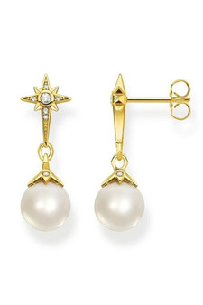 Thomas Sabo Earrings Pearl Star TH2118Y