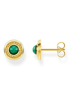 Thomas Sabo Ear Studs Green Stone TH2121Y