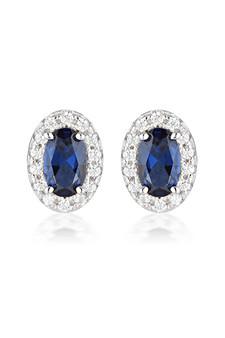 Georgini Aurora Glow Earrings Silver/Sapphire IE973B