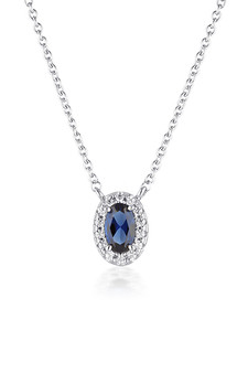 Georgini Aurora Glow Pendant Silver/Sapphire IP829B
