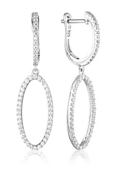 Georgini Aurora Celestial Earrings Silver IE976W