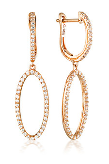 Georgini Aurora Celestial Earrings Rose Gold IE976RG