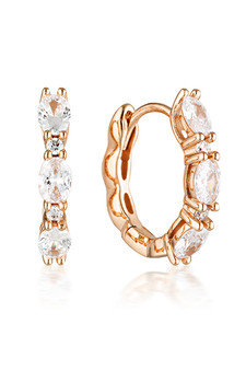 Georgini Aurora Glimmer Earrings Rose Gold IE977RG