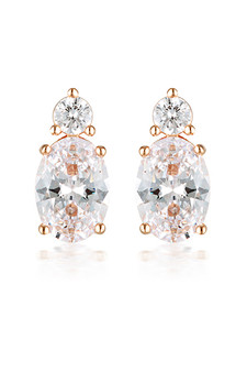 Georgini Aurora Australis Earrings Rose Gold IE978RG