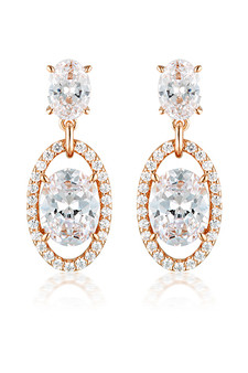 Georgini Aurora Heaven Earrings Rose Gold IE979RG